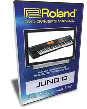 Roland Juno-G DVD Video Training Tutorial Help