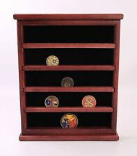 Challenge Coin Display Case / Wall Hanging, 25 Coins --Made in Wisconsin--