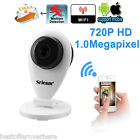 720P H.264 Wifi Megapixel Wireless ONVIF CCTV Security IP Camera TF Slot EU PLUG