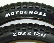 OLD SCHOOL BMX KENDA MX BILLBOARD TIRES PAIR 20X2.125