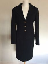 Ladies Dolce & Gabbana Black Wool Skirt Jacket Smart Suit Size Italian 42 UK10