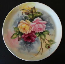 LEA LYNESS HAND PAINTED CABINT PLATE SHENANGO CHINA USA 1950'S SIGNED BY ARTEST