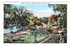 SCENIC VIEW AT SOLDIERS' HOME-----DAYTON OHIO-----POSTCARD