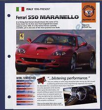 Ferrari 500 Maranello  IMP Brochure Specs 1996-Present Group 1, No 25