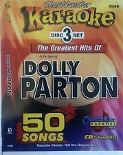 CHARTBUSTER KARAOKE CDG  DOLLY PARTON (5048)  3 DISC BOX SET  50 TRACKS   NEW