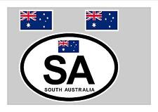 SOUTH AUSTRALIA FLAG WINDOW / BUMPER STICKER FOR CAR BIKE CARAVAN TRAILER