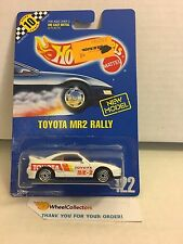 #5 Toyota MR2 Rally #122 * White * Blue Card Hot Wheels * E38