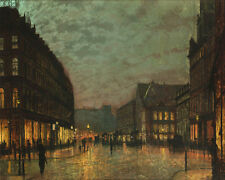 Boar Lane Leeds By Lamplight John Atkinson Grimshaw  24'  CANVAS