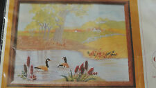 Creative Circle CREWEL Kit Countryside Canadian Goose Geese Color Printed NIP