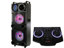 "QFX SBX-32120 2 X 12"" PA Speaker +Bluetooth +USB/SD/FM +Disco Light"