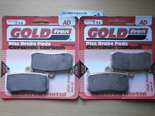SINTERED FRONT BRAKE PADS (2x Sets) for: TRIUMPH DAYTONA 675 BLACK MONOBLOCK