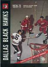1970-71 Dallas Black Hawks vs Oklahoma City Blazers hockey program  MBX93