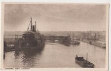 Manchester Ship Canal, Graving Dock, Salford Postcard, B601