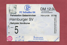 Orig.Ticket   1.Bundesliga  1997/98   FC SCHALKE 04 - HAMBURGER SV  !!