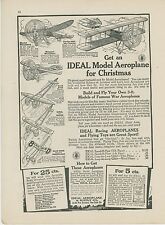 1917 Ideal Model Areoplanes Ad Toy Airplane Kits Curtiss Nieuport Cecil Peoli +