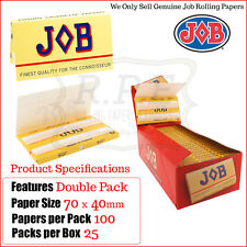 JOB Red Luxury Cigarette Regular Rolling Papers - One Full New Box 25 Packs