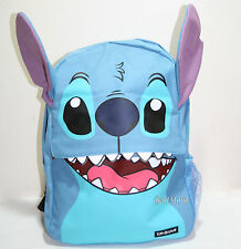Disney Loungefly Lilo & Stitch Teeth Ears Backpack School Book Bag W/side pocket