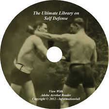 54 Books on CD, Ultimate Library on Self Defense, Fight Train Boxing Wrestle