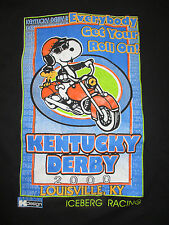 "Peanuts SNOOPY 2000 KENTUCKY DERBY ""Everybody Get Your Roll On"" (2XL) T-Shirt"