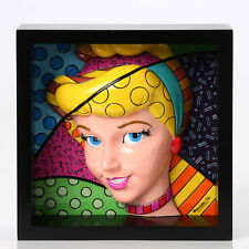 "ROMERO BRITTO DISNEY  FRAMED POP ART BLOCK 3-D CINDERELLA ""POP PRINCESS"""
