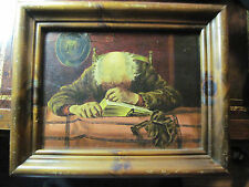 VINTAGE OIL PAINTING BY JOHN PARKER TITLED (MY GUILT) POWERFUL IMAGE