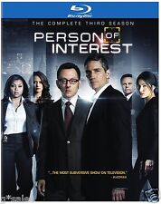 Person of Interest Complete Third Season 3 Three ~ BRAND NEW 4-DISC BLU-RAY SET