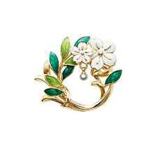 CHERRY BLOSSOM BROOCH / Enamel Accessory Women Costume Jewellery Birthday Gift