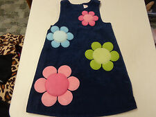GYMBOREE SMART AND SWEET  CORDUROY FLOWER JUMPER DRESS  GIRLS   6   LNW