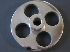 "#12 x 3/4"" w/ HUB STAINLESS Meat Grinder Mincer plate disc screen"