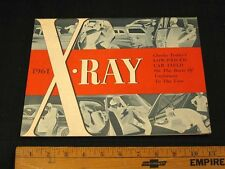 1961 AMC X-RAY Comparison of Low-Price Cars Sales Brochure CDN