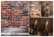 3x5ft Vinyl Photography Background Brick Wooden Wall Baby Backdrops Studio Props