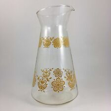 Pyrex Butterfly Gold Carafe Tall Pitcher Corelle Corning Vintage Glass Water