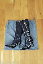 *ALEXANDER MCQUEEN* EARLY 2001 KNEE LENGTH STEAM PUNK BOOTS 39.5