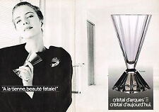PUBLICITE ADVERTISING 044  1988  CRISTAL D'ARQUES  service  PYRAMIDE  ( 2 pages)