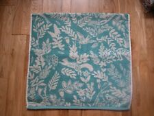 NEXT TEAL JADE FOLKLORIC ANIMAL PRINT FLORAL NORDIC  BATH TOWEL 100% COTTON NEW