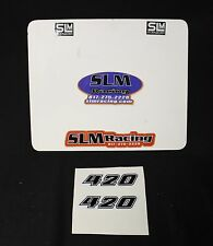KTM VINTAGE PENTON 1980 MC80 420 LOGO STICKER PAIR GRAPHICS DECAL