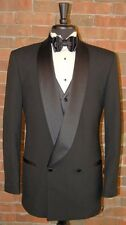 MENS SIZE 42 R  SLIM FIT BLACK DOUBLE BREAST SHAWL DINNER JACKET BREASTED TUXEDO