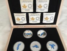 ALL 5 Fine Silver Coins - Great Lakes: - Mintage: 10,000 (2014)