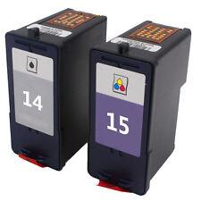 2PK for Lexmark 14 15 Black Tricolor Ink Cartridge for Z2300 Z2320 X2600 Printer