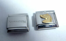 GOLD HORSE HEAD 9mm Italian Charm + 1x Genuine Nomination Classic Link I Love My