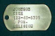 Custom EMBOSSED STAINLESS STEEL IDENTIFICATION DOG Tags Made in US by a Veteran.