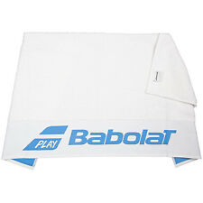 Babolat Towel White w/Blue 50x100cm - Logo - Sports - Tennis - Badminton Squash