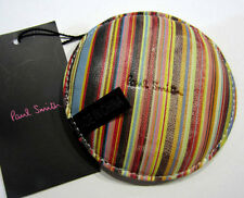 Paul Smith MULTISTRIPE & FOOTBALL LEATHER 9cm Diameter Paper Weight / Stess Ball
