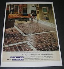 Print Ad 1967 FLOORING Kentile Vinyl Floor Tile Moda Moresca Living Room Decor