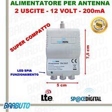 ALIMENTATORE TV  PER AMPLIFICATORE ANTENNA TERRESTRE 12V - 2 USCITE 150mA