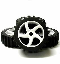 HS281063W 1/8 Scale Sand Snow Buggy RC 5 Spoke Swirl Wheels and Tyres White x 4