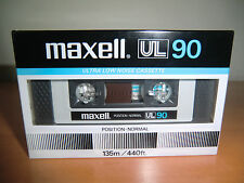 MAXELL UL 90 - from 1982 Audio Cassette - NEW / NEU Sealed !!! made in Japan !!!