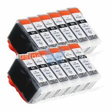 12 PGI-5 Black PGI-5 PGI-5BK Compatible Ink Cartridge for Canon Printer PGI-5 BK