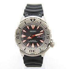Seiko SRP313K1 Black Monster Automatic Divers Resin Analog Sport Watch SRP313