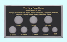 CAPITAL PLASTICS - THE NEW EURO COINS - 8 HOLES - BLACK  FREE SHIP  CP-MA437E-B